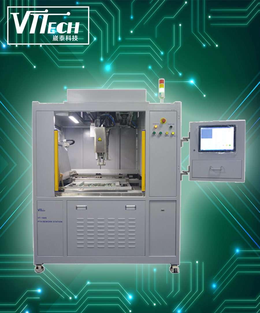 全球首台自动PTH返修站VT-160L通过美国SANMINA认证