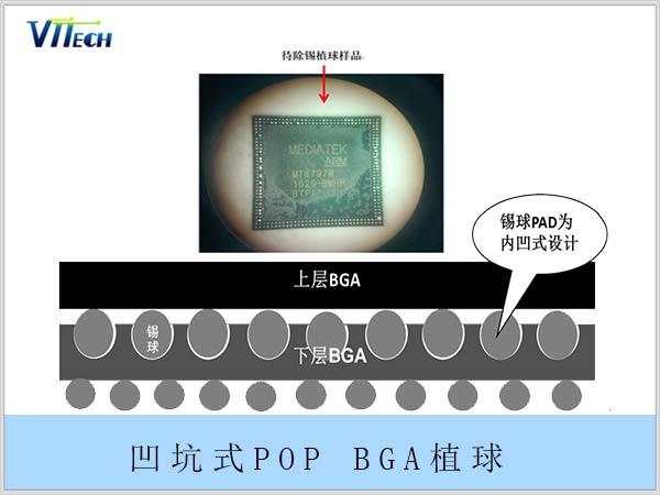 凹坑式POP BGA植球